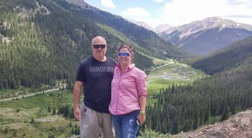 My husband and I in Colorado