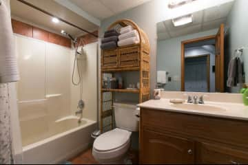 Guest bathroom in lower level