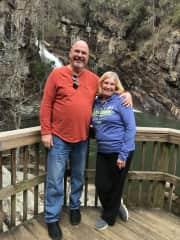 Becky and Joe at Hurricane Falls