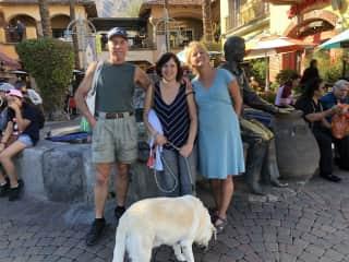 Karen, Jeff & our daughter Jen, Also the best lab, Muka