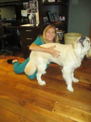 This as me and Cooper my dog sit boy !!i in Newport Beach CA