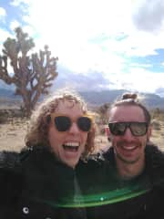 Andy and I visiting Joshua Tree