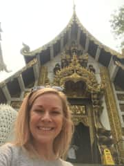 Myself at a Temple in Chaing Mai