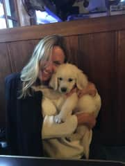 Shazza and biscuit!...our son's 10 week old baby boy!!!