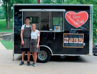 This is us in front of our food truck in Nashville.