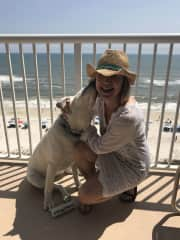 Sadie Mae on the Pensecola beach, 2017.