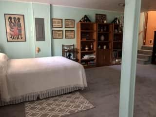 Downstairs- queen bed.