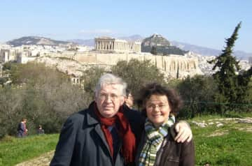 Michael and Oda in Athens, final diplomatic posting