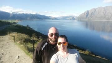Orla and I exploring Queenstown, NZ