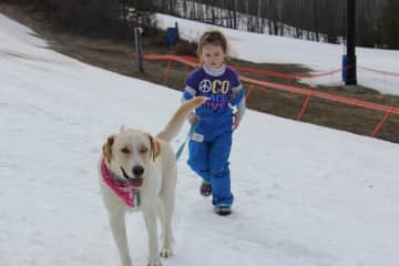 ZOE, enjoying the snow