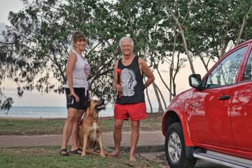 Deena, Ivan and Mango in Hervey Bay, Australia
