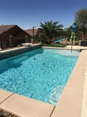 Pool is solar heated