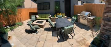 Back Patio, with built-in grill and fire pit.