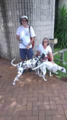 Walking with Rosie and Rafa