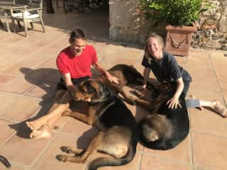 Joe and I during our pet sit in Spain