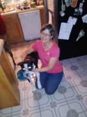 Linda with Baloo.