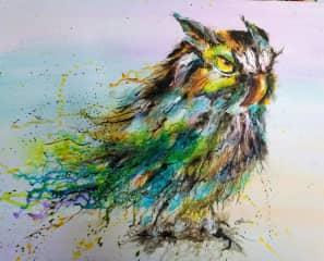 Mystic Owl I painted in Ontario Canada