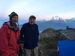 Me and a good friend trekking in Nepal on Khopra Ridge