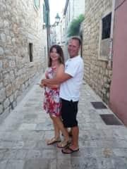Helen and Harley in Starigrad Hvar