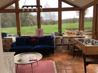 Oak framed conservatory