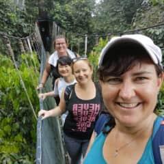 Me and friends in Borneo