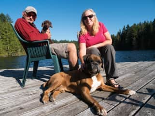 With Jaz and Rocket in Metchosin, BC