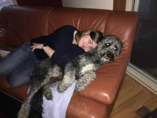 Agnes & Monte - the most cuddly pup ever!