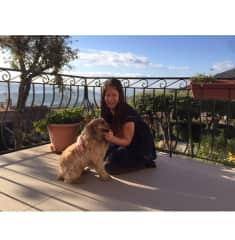 French Riviera - Grasse - with little Bella.