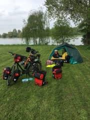 Bike packing along the Rhine