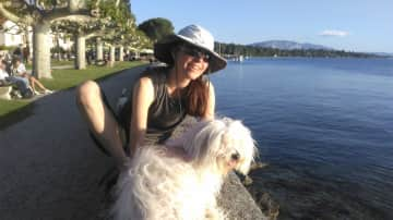 Enjoying the views of Lake Geneva