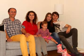 Our family with the friends in Kopengagen, Denmark