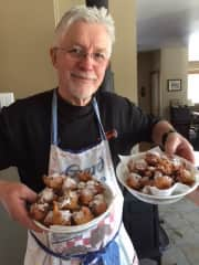 John just finished making a Dutch New Year's treat