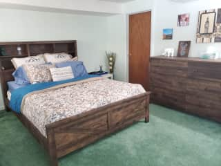 Walk-out guest bedroom, on lower floor