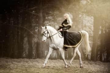 My horse, Patriot, and I on a fantasy photoshoot.