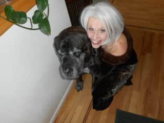 Monique and Brune, the Mastiff, Longmont, CO, US