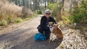 Hiking trails with our new friend, Ellie, in Hilton Head.