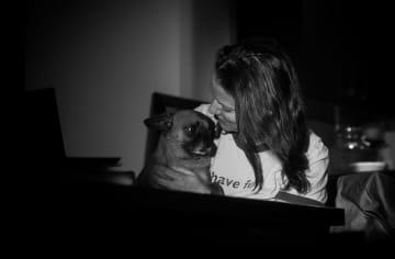 Loving on my little Nacho man