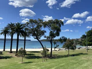 We are a 20 minute walk or 5 minute drive to Balmoral Beach.