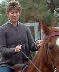 Deena riding Rosie