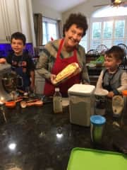 Cooking with grandchildren - as good as playing with kittens