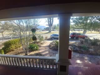 front porch, and park