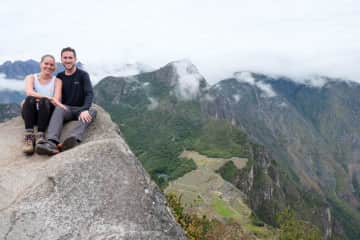 Climbing to the top of Huayna Picchu