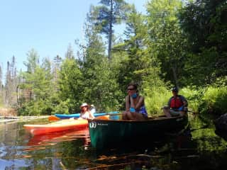 Shirley & Tom - paddling with friends in Maine