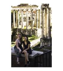Wandering through ruins in Rome in 2019