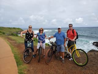 Cycling on Kauai with friends December 2019