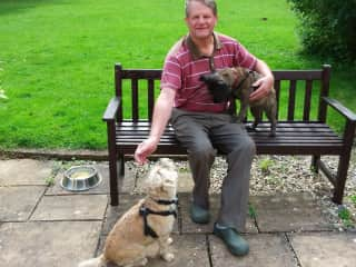 Alan with Pebbles and Cracker