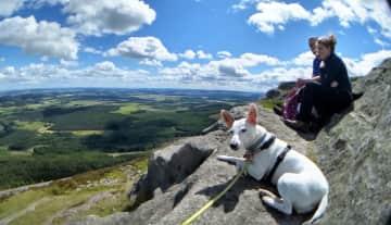Hiking Mither Tap, Scotland