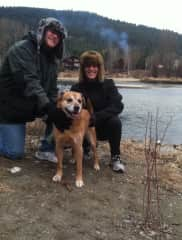 Hubbie,  son and Ginger in Leavenworth.