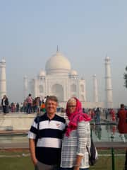 Wayne and Linda travelling in India in 2018