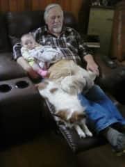 Great Grandpa aqnd one of 8 Great Grandaughters